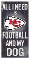 Kansas City Chiefs Football & My Dog Sign