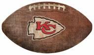 Kansas City Chiefs Football Shaped Sign