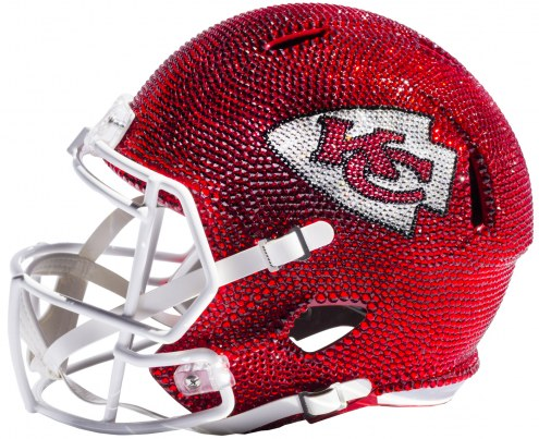 Kansas City Chiefs Full Size Swarovski Crystal Football Helmet