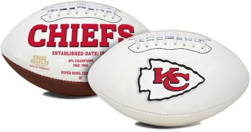 Kansas City Chiefs Full Size Embroidered Signature Series Football