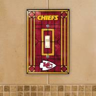 Kansas City Chiefs Glass Single Light Switch Plate Cover