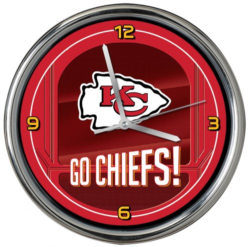 Kansas City Chiefs Go Team Chrome Clock