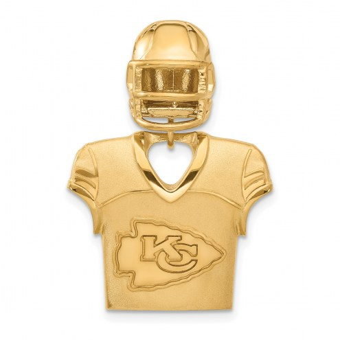 Kansas City Chiefs Gold Plated Jersey & Helmet Pendant