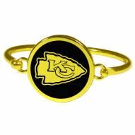 Kansas City Chiefs Gold Tone Bangle Bracelet