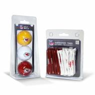 Kansas City Chiefs Golf Ball & Tee Pack