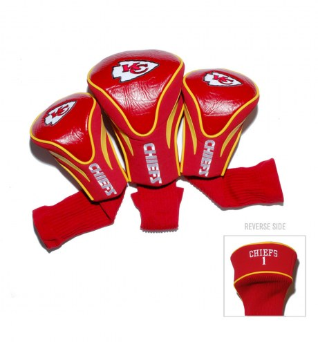Kansas City Chiefs Golf Headcovers - 3 Pack