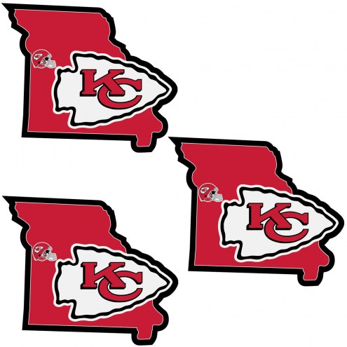 Kansas City Chiefs Home State Decal - 3 Pack
