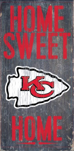 Kansas City Chiefs Home Sweet Home Wood Sign