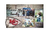 Kansas City Chiefs I Love My Family Clip Frame