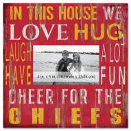 """Kansas City Chiefs In This House 10"""" x 10"""" Picture Frame"""