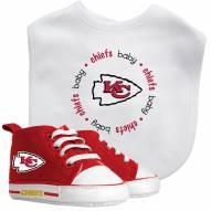 Kansas City Chiefs Infant Bib & Shoes Gift Set