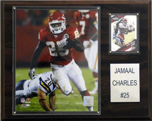 "Kansas City Chiefs Jamaal Charles 12 x 15"" Player Plaque"