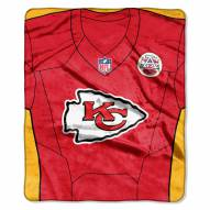Kansas City Chiefs Jersey Raschel Throw Blanket