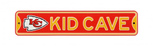Kansas City Chiefs Kid Cave Street Sign