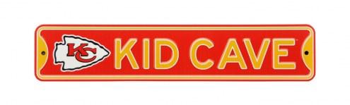 Kansas City Chiefs Kid Cave Street Sign