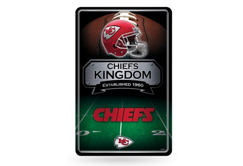 Kansas City Chiefs Large Embossed Metal Wall Sign