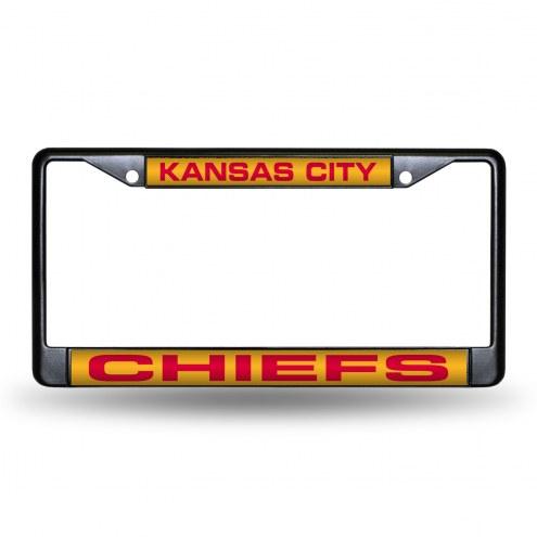 Kansas City Chiefs Laser Black License Plate Frame
