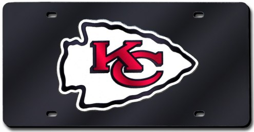 Kansas City Chiefs Laser Cut Black License Plate