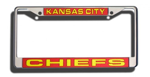 Kansas City Chiefs Laser Cut License Plate Frame