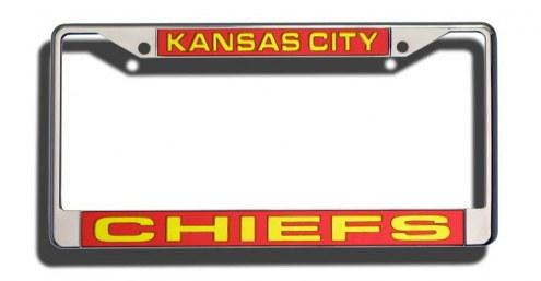 Kansas City Chiefs Laser Cut License Plate Frame