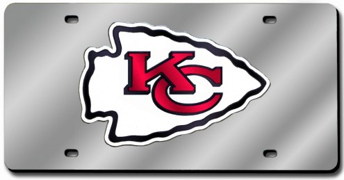 Kansas City Chiefs Laser Cut License Plate