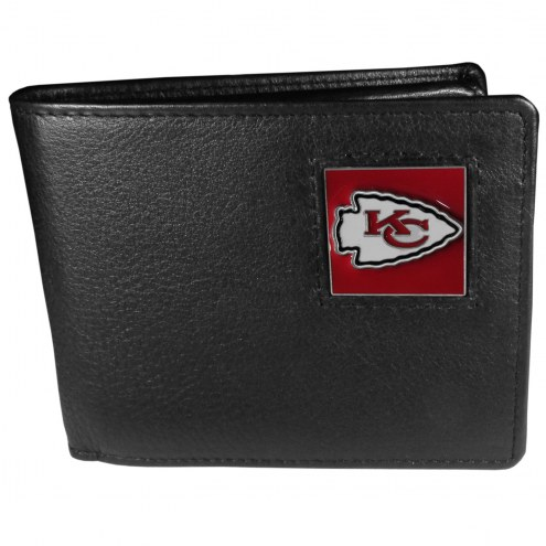 Kansas City Chiefs Leather Bi-fold Wallet in Gift Box