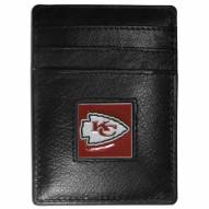 Kansas City Chiefs Leather Money Clip/Cardholder in Gift Box