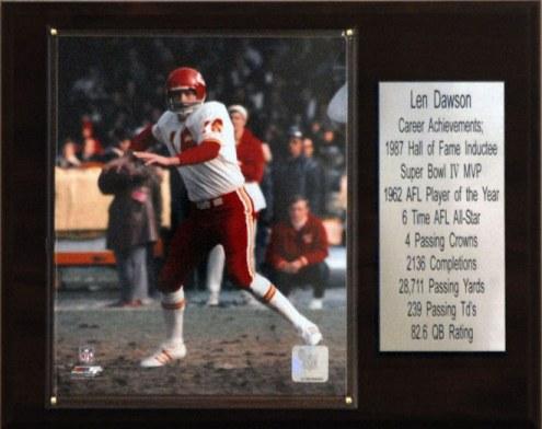 "Kansas City Chiefs Len Dawson 12"" x 15"" Career Stat Plaque"