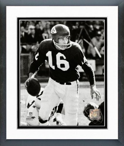 Kansas City Chiefs Len Dawson 1966 Action Framed Photo