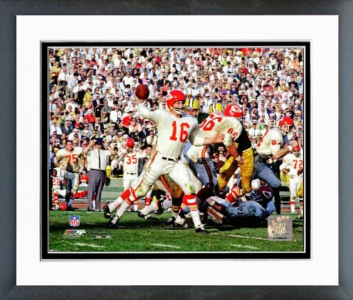 Kansas City Chiefs Len Dawson Super Bowl I Action Framed Photo