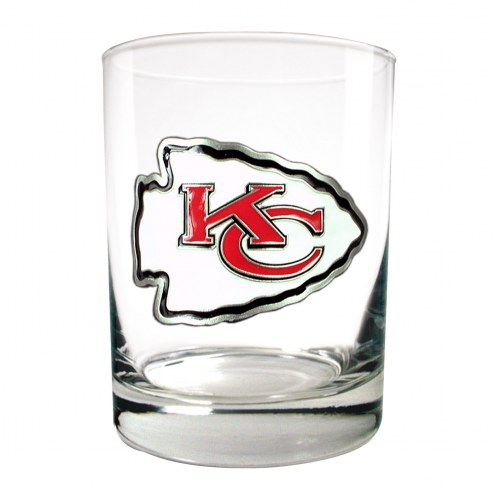 Kansas City Chiefs Logo Rocks Glass - Set of 2
