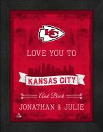 Kansas City Chiefs Love You to and Back Framed Print