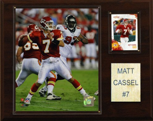 "Kansas City Chiefs Matt Cassel 12 x 15"" Player Plaque"