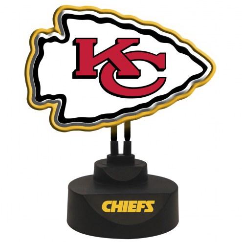 Kansas City Chiefs Team Logo Neon Light