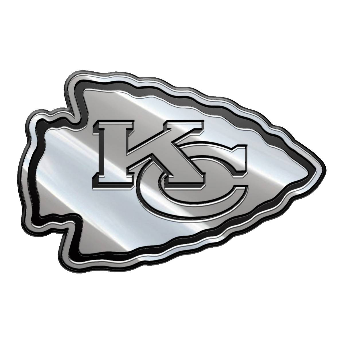 Kansas City Chiefs Metal Car Emblem