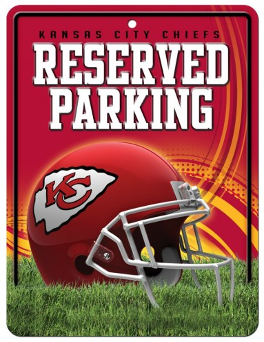 Kansas City Chiefs Metal Parking Sign