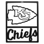 Kansas City Chiefs Metal Team Sign