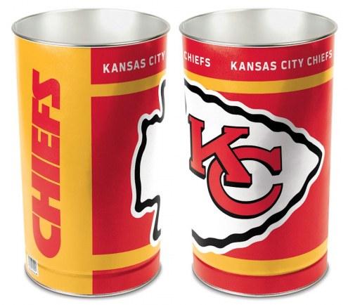 Kansas City Chiefs Metal Wastebasket