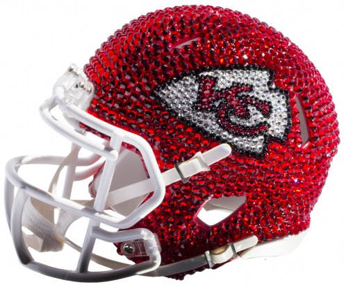 Kansas City Chiefs Mini Swarovski Crystal Football Helmet
