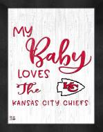 Kansas City Chiefs My Baby Loves Framed Print