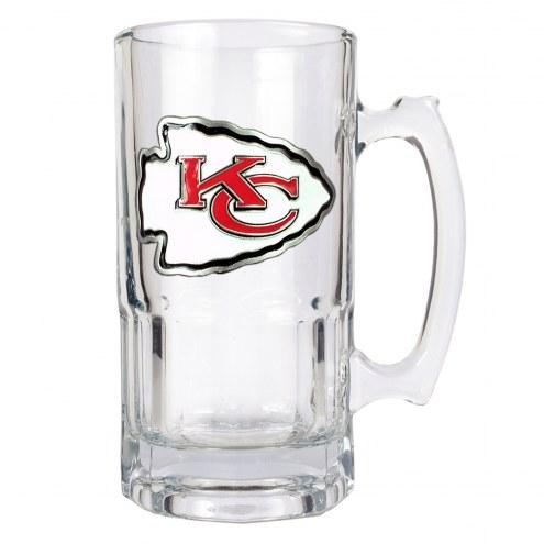 Kansas City Chiefs NFL 1 Liter Glass Macho Mug