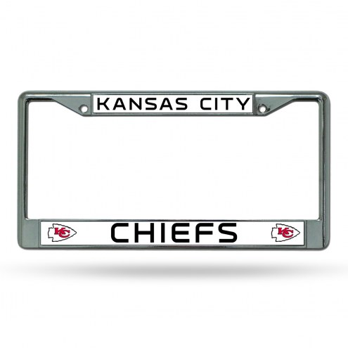 Kansas City Chiefs NFL Chrome License Plate Frame