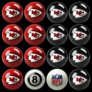 Kansas City Chiefs NFL Home vs. Away Pool Ball Set