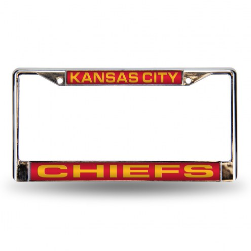 Kansas City Chiefs NFL Laser Chrome License Plate Frame