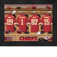 Kansas City Chiefs NFL Personalized Locker Room 11 x 14 Framed Photograph