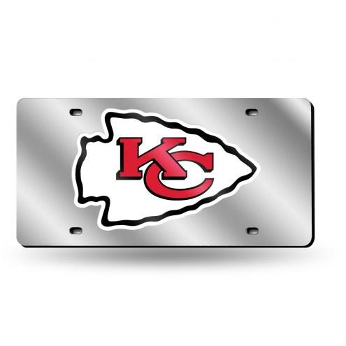 Kansas City Chiefs NFL Silver Laser License Plate
