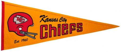 Kansas City Chiefs NFL Throwback Pennant