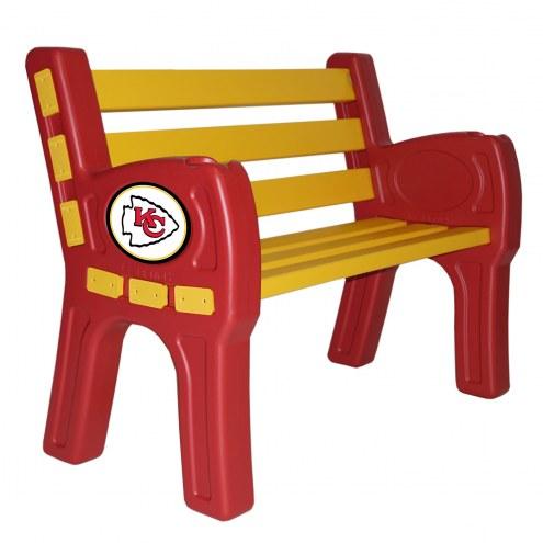 Kansas City Chiefs Park Bench