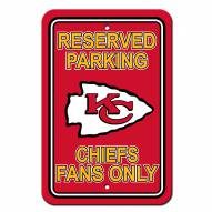 Kansas City Chiefs Parking Sign