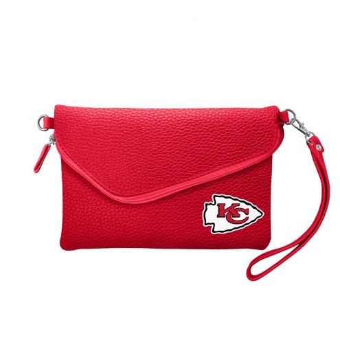 Kansas City Chiefs Pebble Fold Over Purse